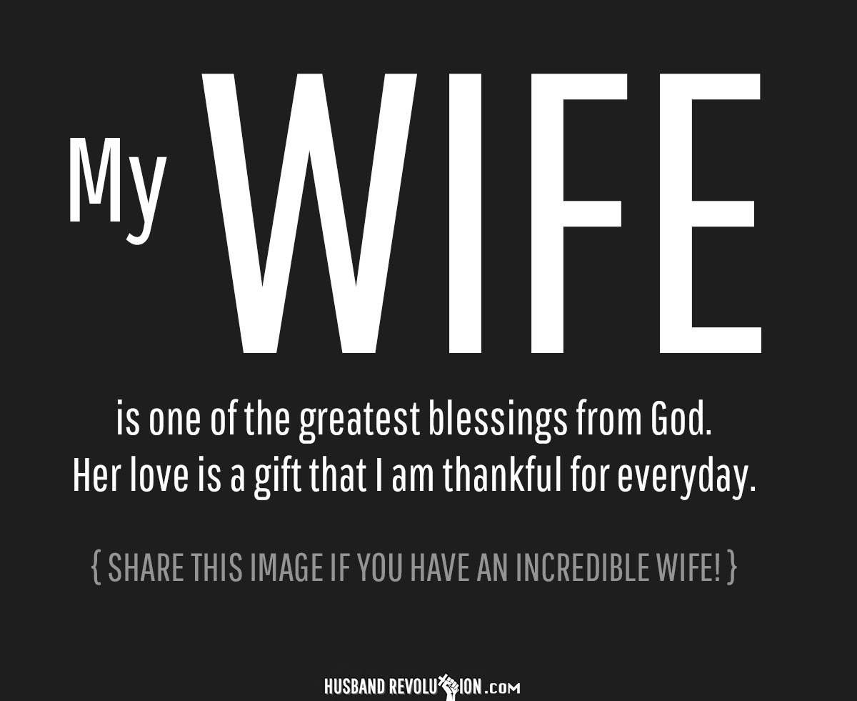 Sharing my wife love