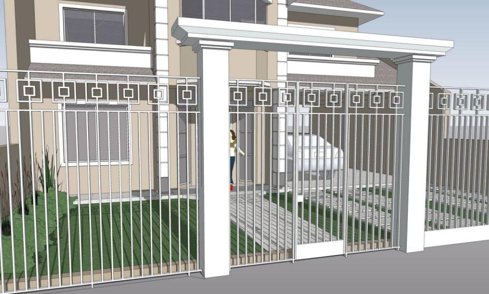 Resultado De Imagen Para Portones De Casa De Campo Con Piedra Rejas Para Casas Casas Modelos De Casas Sencillas
