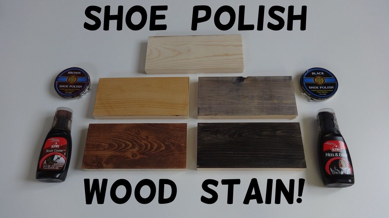 How To Stain Wood With Shoe Polish There Are 8 Additional Finishing Alternatives In The Video Notes Staining Wood Diy Wood Stain Homemade Wood Stains