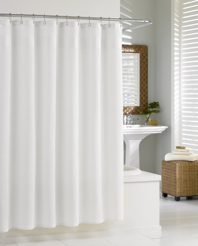 white shower curtain bathroom. Amazon.com: Kassatex SCS-115-WAF-W Waffle Shower Curtain, White Curtain Bathroom O