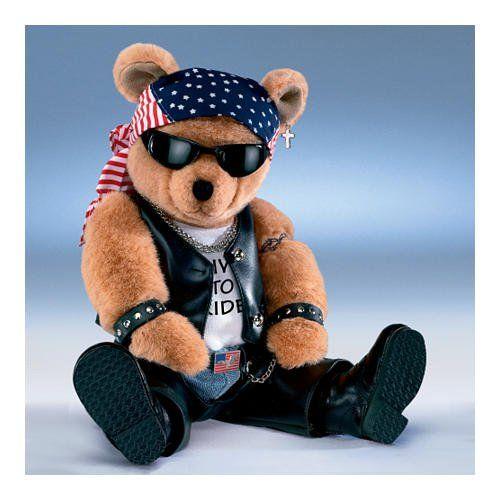 Biker Teddy Bear How Cute Dolls ☘ Teddy Bear Bear
