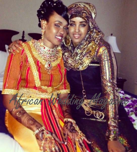 Somali bride in tradition inspired wedding dress, Djibouti ...