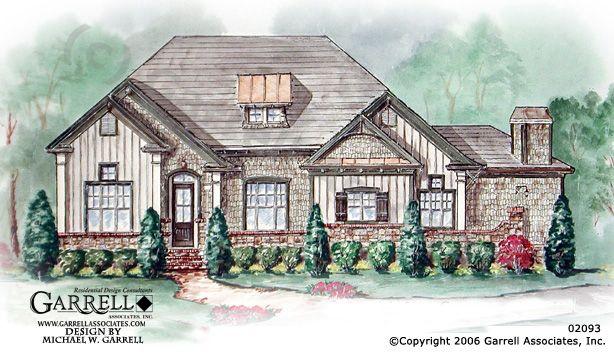 Garrell associates inc bungalow lodge house plan 02093 for Ranch house designs inc
