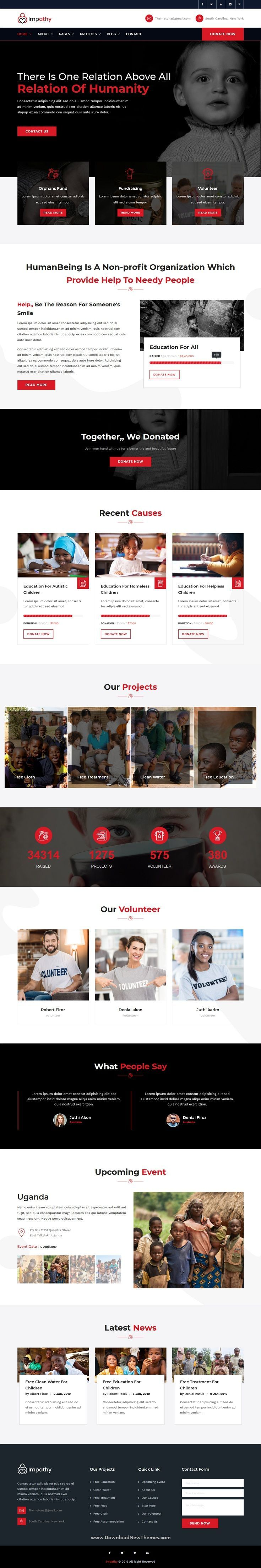 Pin By Muriel Quan On Charity Organizations Web Template Design Html5 Templates Web Design Inspiration