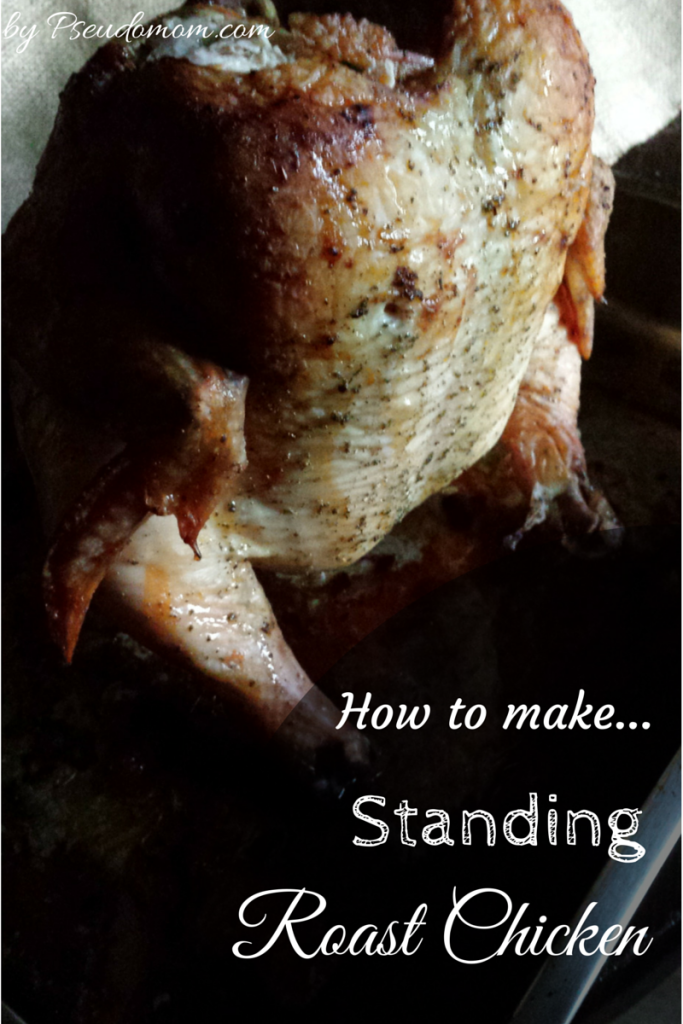Usually made with a can of beer, Standing Roast Chicken