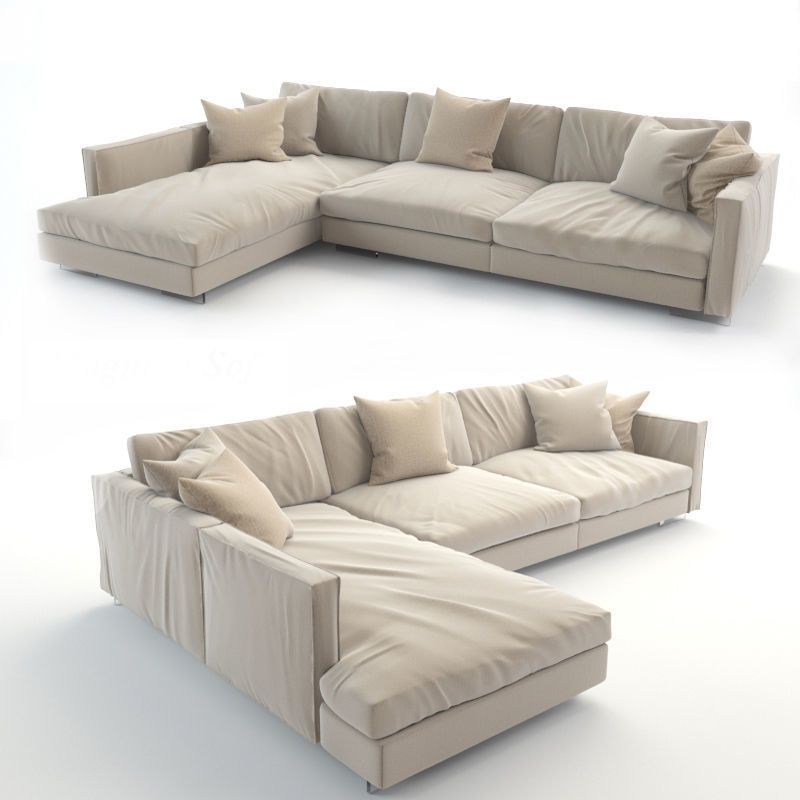 Realistic Sofa 3d Print Model White Dining Room Furniture Comfy Sofa Chair Comfy Couch