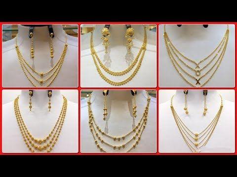 dc7993532 Gold Chain Bead Mala Designs |Gold bead Mala Necklace designs 2018 - YouTube