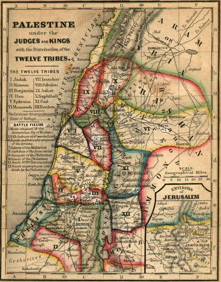 Map of twelve tribes of israel hebrew truth pinterest mapas map of twelve tribes of israel gumiabroncs Choice Image