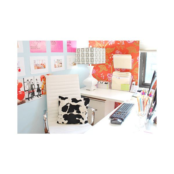 dens/libraries/offices - blue walls orange wallpapered ...