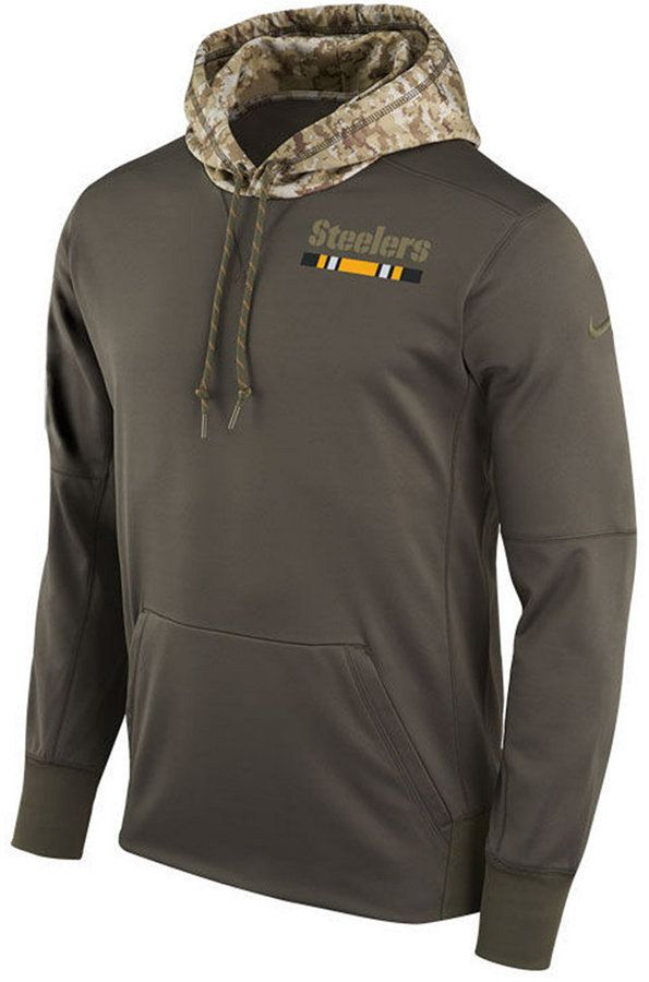 d5b273009 Nike Men s Pittsburgh Steelers Salute To Service Therma Hoodie ...
