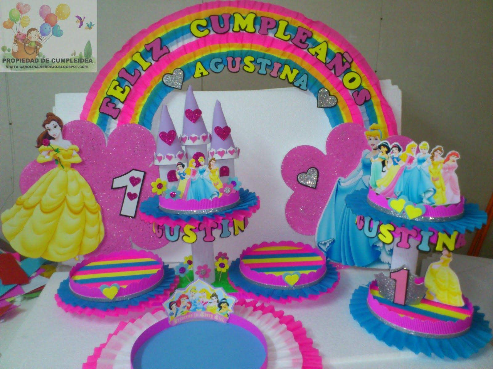 Decoraciones infantiles princesas party decor with - Fiestas infantiles princesas disney ...