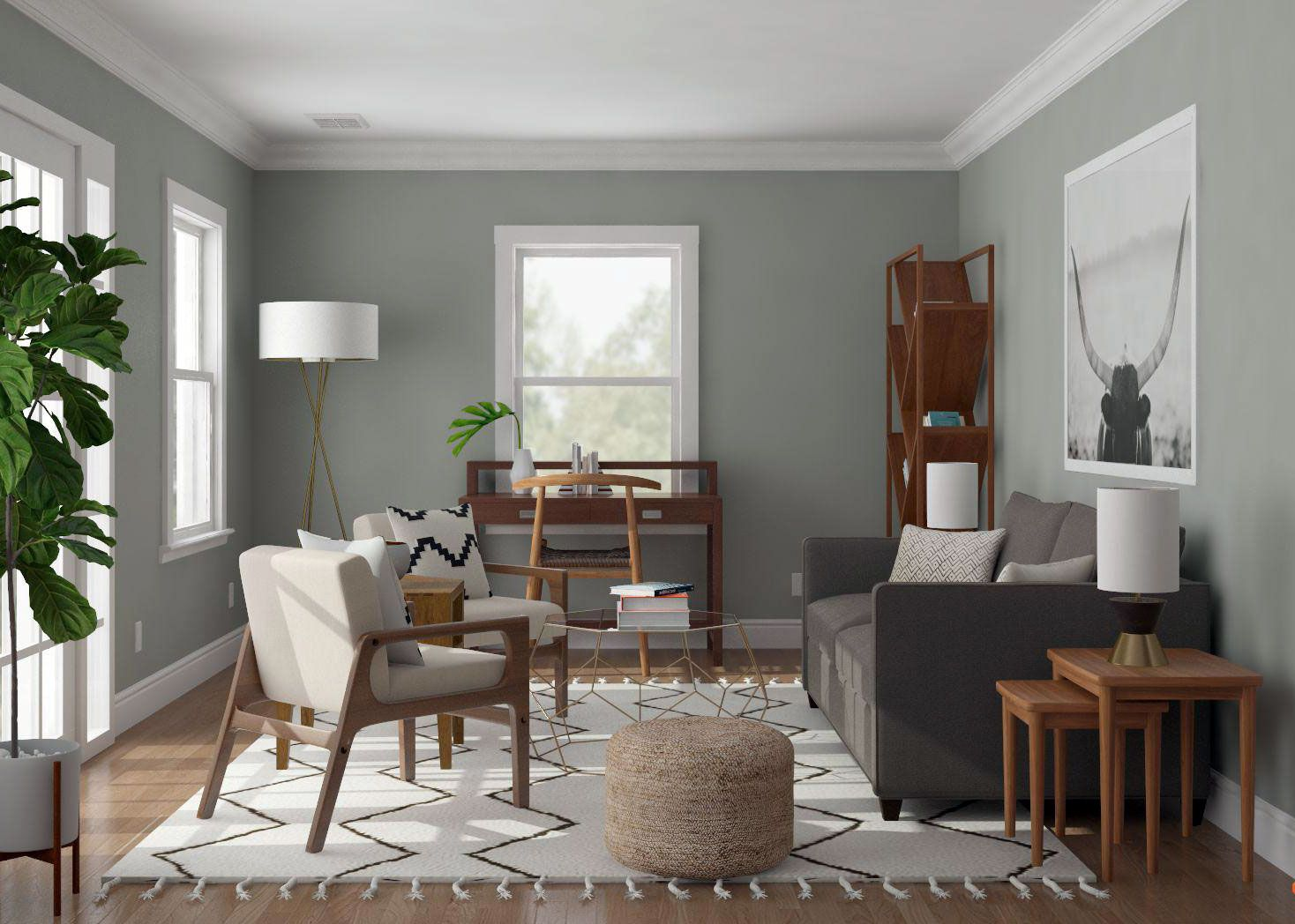 11+ Mid century modern living room colors ideas in 2021