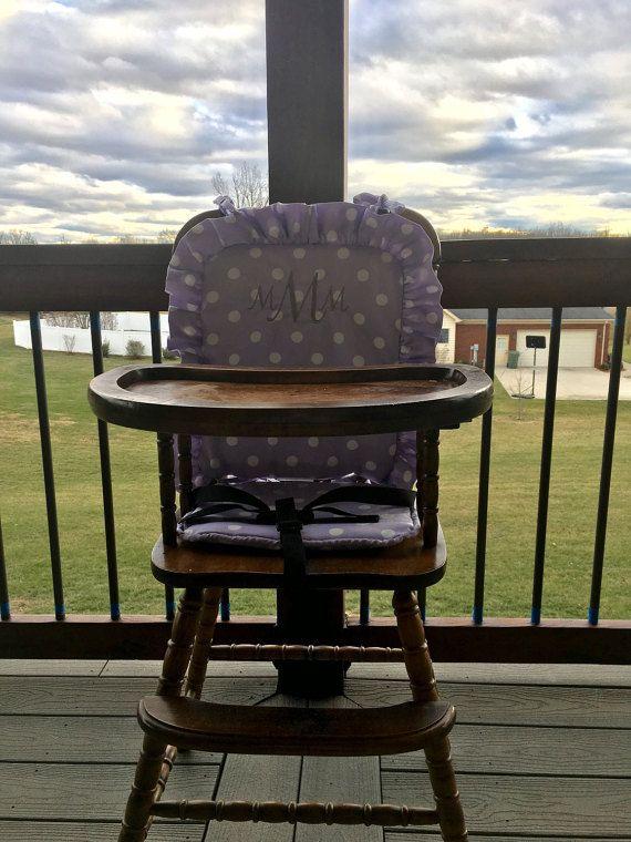 Stupendous Lavendar Wooden Highchair Cover Pad Cushion High Chair Beatyapartments Chair Design Images Beatyapartmentscom