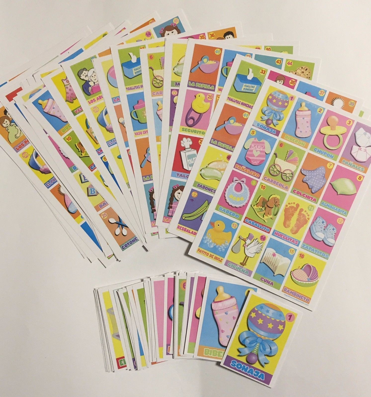 $12.99 – Mexican Baby Shower Loteria Bingo Game 8 Cards Spanish Edition #ebay #Collectibles