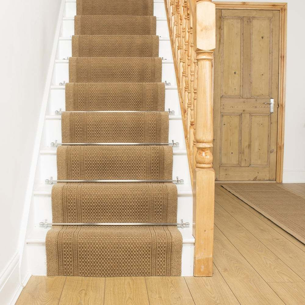 Best Aztec Beige Stair Carpet Runner For Narrow Staircase 400 x 300