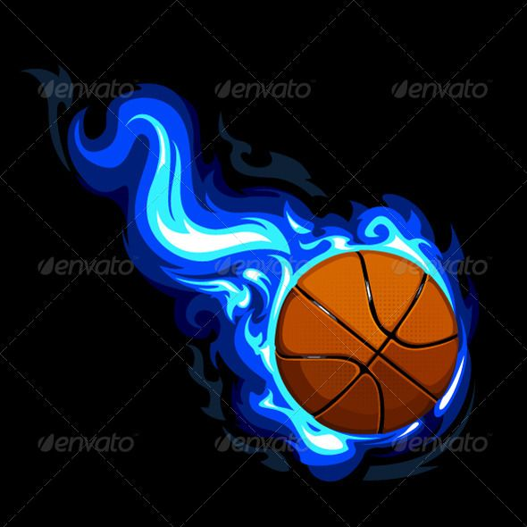 Burning Basketball Sports Basketball Backboard Basketball Playoffs Basketball Background