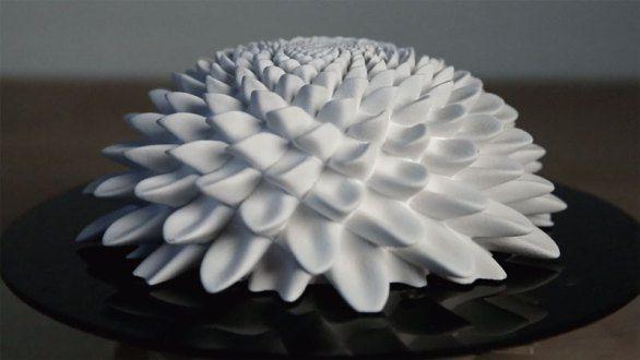 3D Printed Fibonacci Zoetrope Sculptures by John Edmark