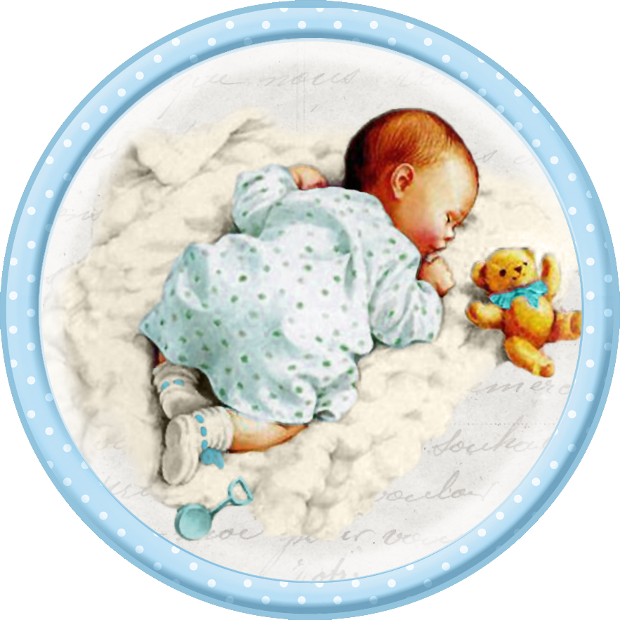Cute Sleeping Babies. Free Printable Cards, Toppers or Labels ...