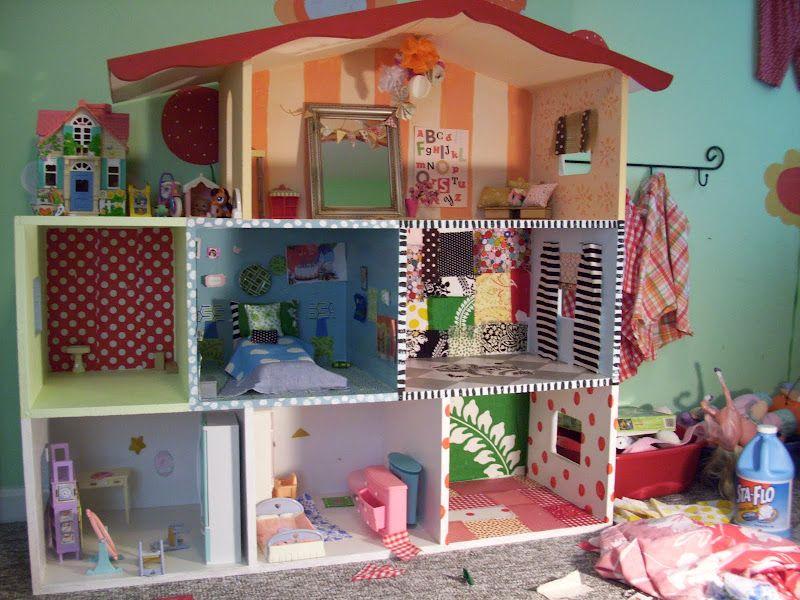 Diy barbie house for katleigh pinterest barbiehaus for Puppenhaus basteln