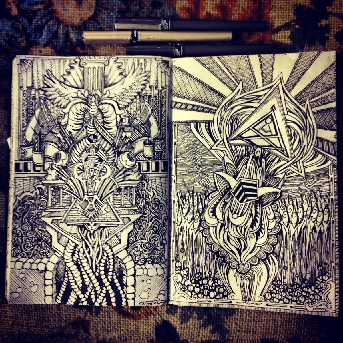 Sketchbook via Reddit /r/heavymind | Sketchbook & Journal