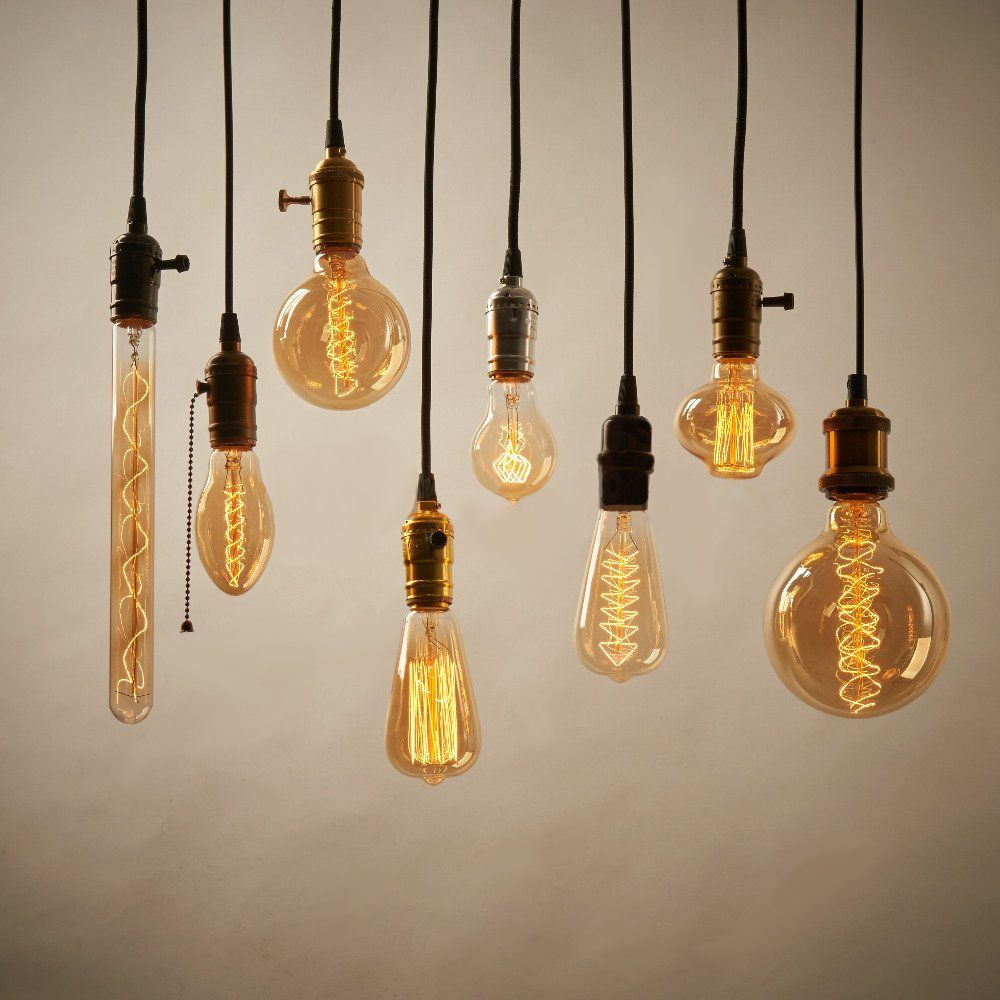 T Y S Lighting 1 Light Vintage Edison Hanging E27 Socket Minimalist Retro Lamp Base Holder 3 74ft Pendan Pendant Light Fixtures Retro Lamp Edison Bulbs Pendant