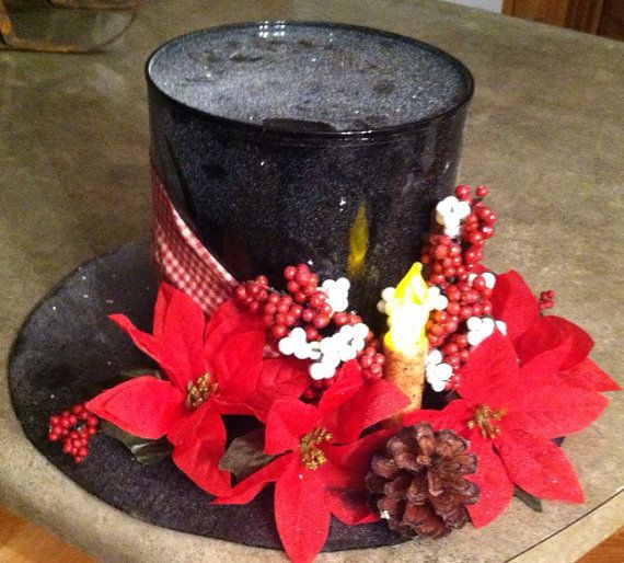 Coffee can snowmans hat by RidgeRdCreations on Etsy, $15.00