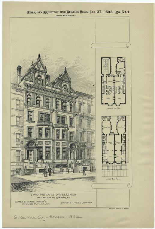 New York City Houses Vintage House Plans