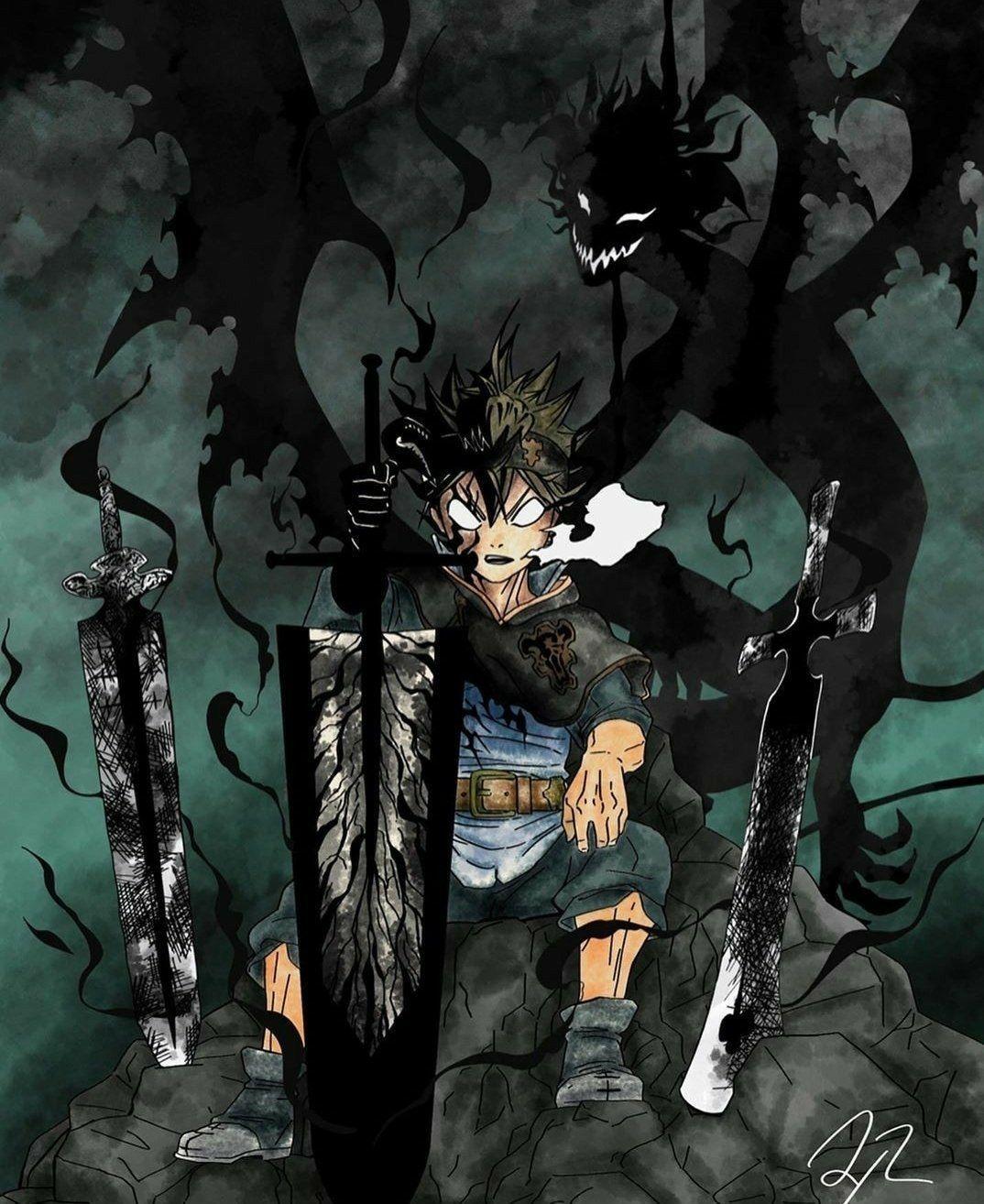Black Clover Black Clover Characters Black Clover Asta Black