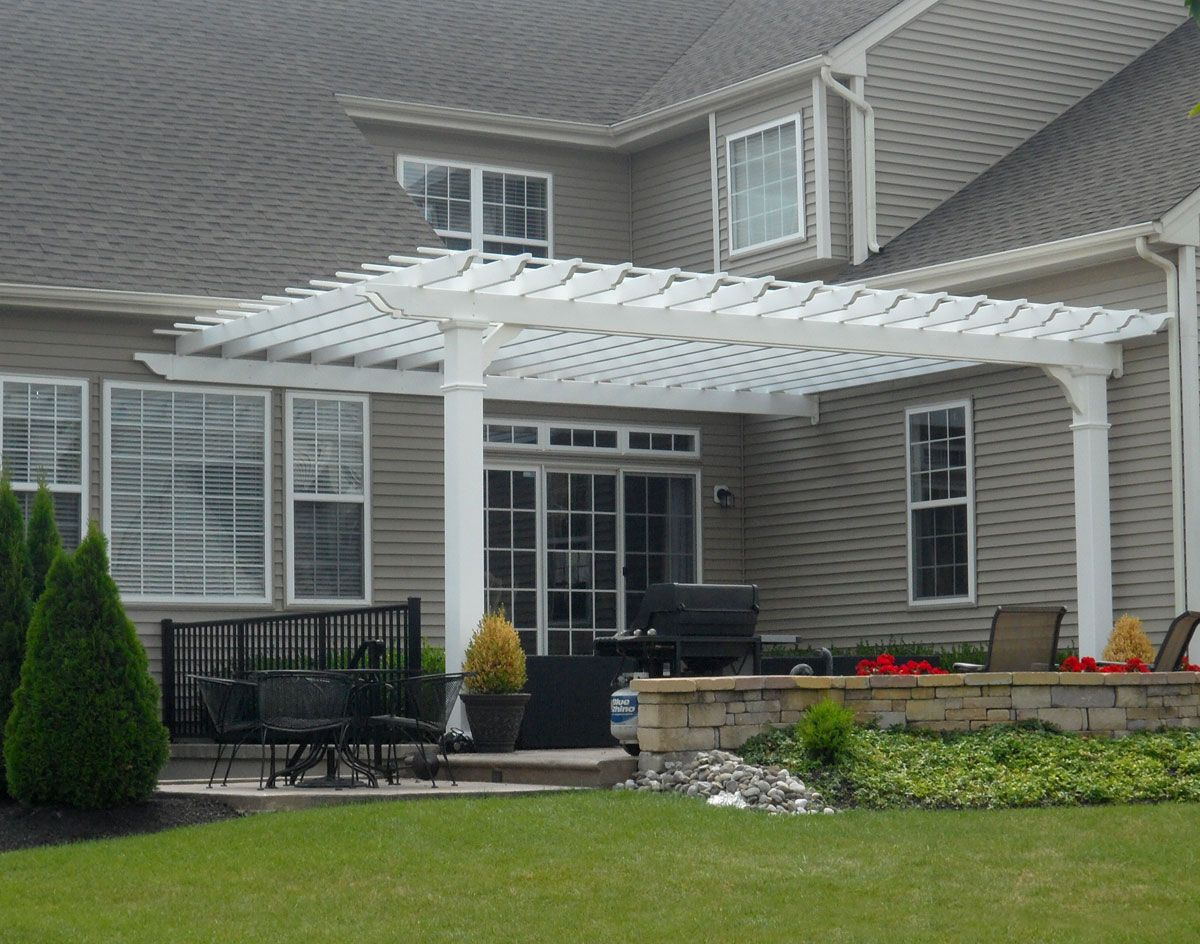 Simple Pergola Attached To House Vinyl 43pergolas 43attached 43to 43house Vinyl Vintage Classic