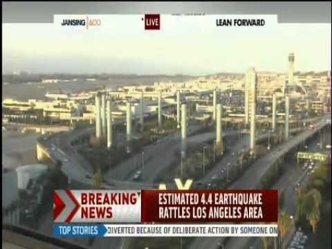 earthquake rattles across los angeles california