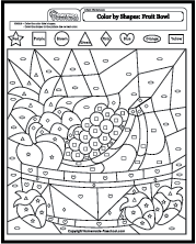 color by shapes coloring pages - Shape Pictures To Colour