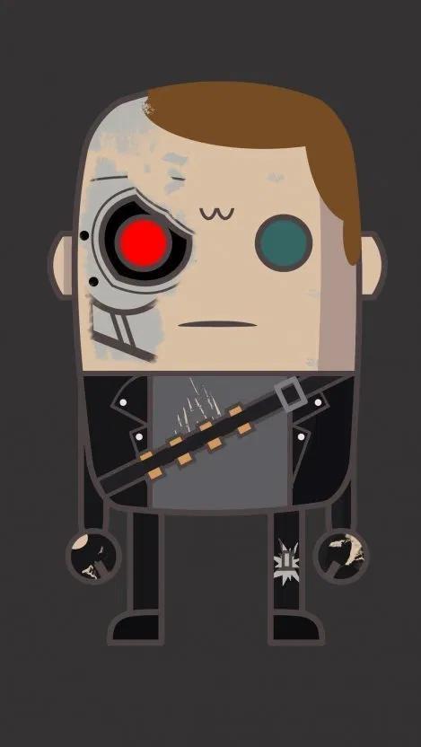 Minimal T Terminator iPhone Wallpaper Free Free PIK PSD