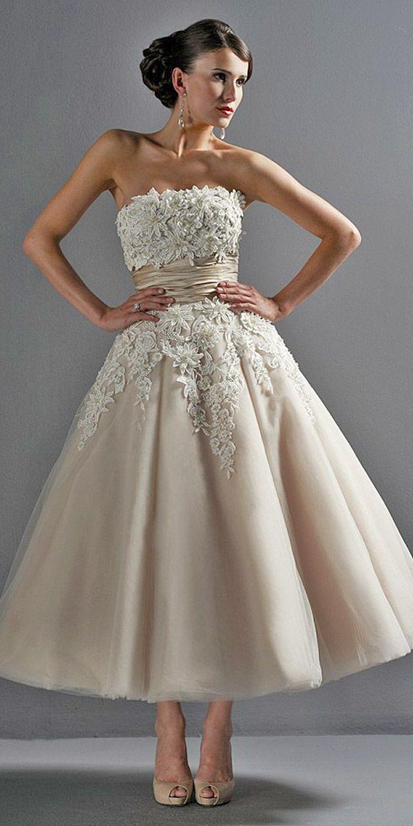 24 Tea Length DressesSomedayPinterest Gorgeous Wedding CxhrtsQd