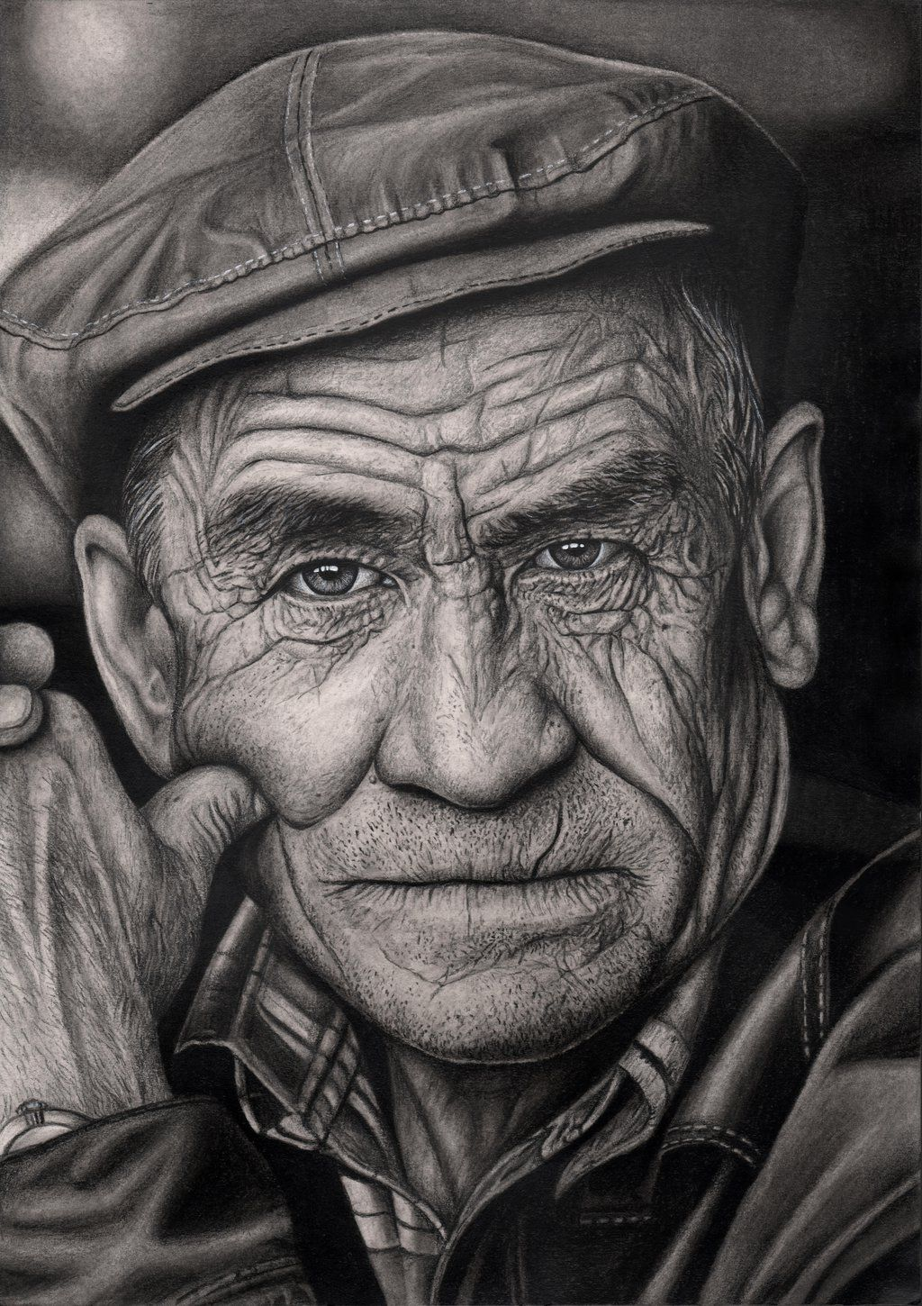 Pencil Drawing Of A Man Black And White