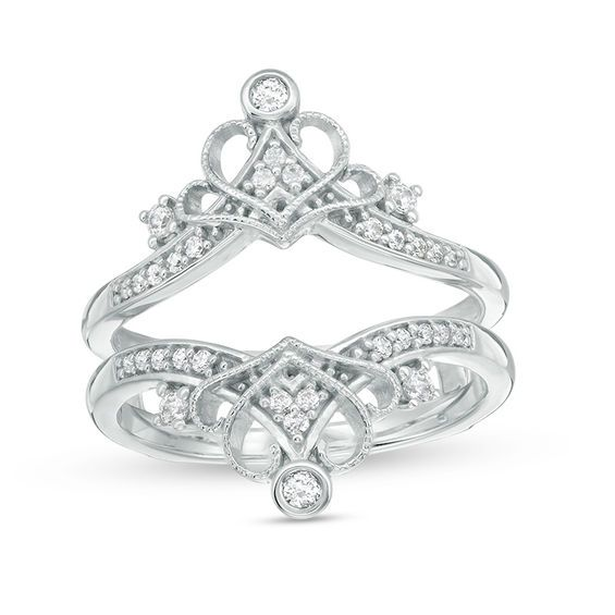 1 4 Ct T W Diamond Vintage Style Crown Ring Solitaire