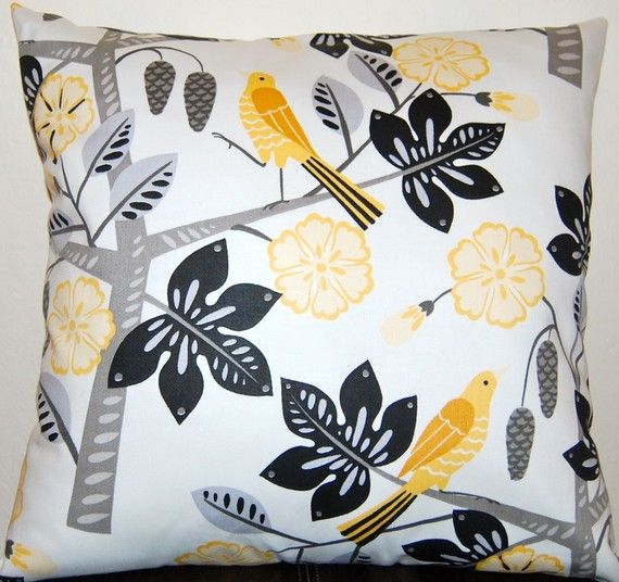 Decorative Pillows Accent Pillows Waverly Throw Pillow Cushion Covers Home Decor Small Talk Yellow Black And Gray 20