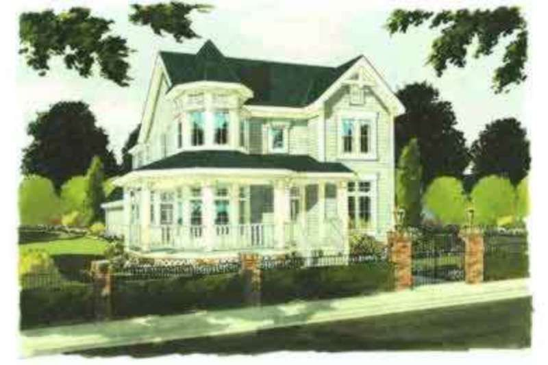 Victorian Style House Plan - 4 Beds 2.5 Baths 2561 Sq/Ft Plan #46-233 Exterior - Front Elevation - Houseplans.com