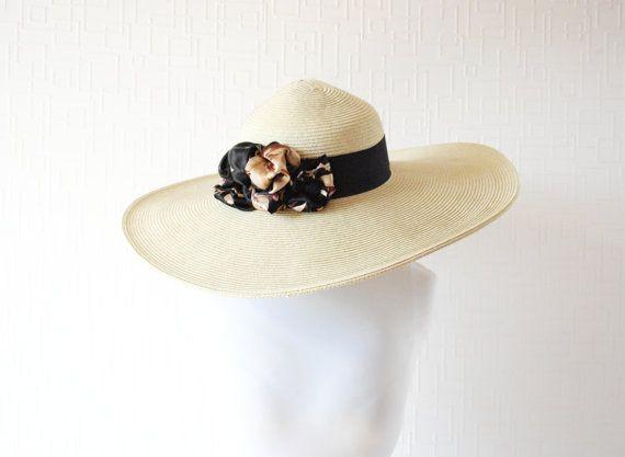 BEIGE sun hat  Wide brim hat  Summer hat  Spring hat by LALcouture