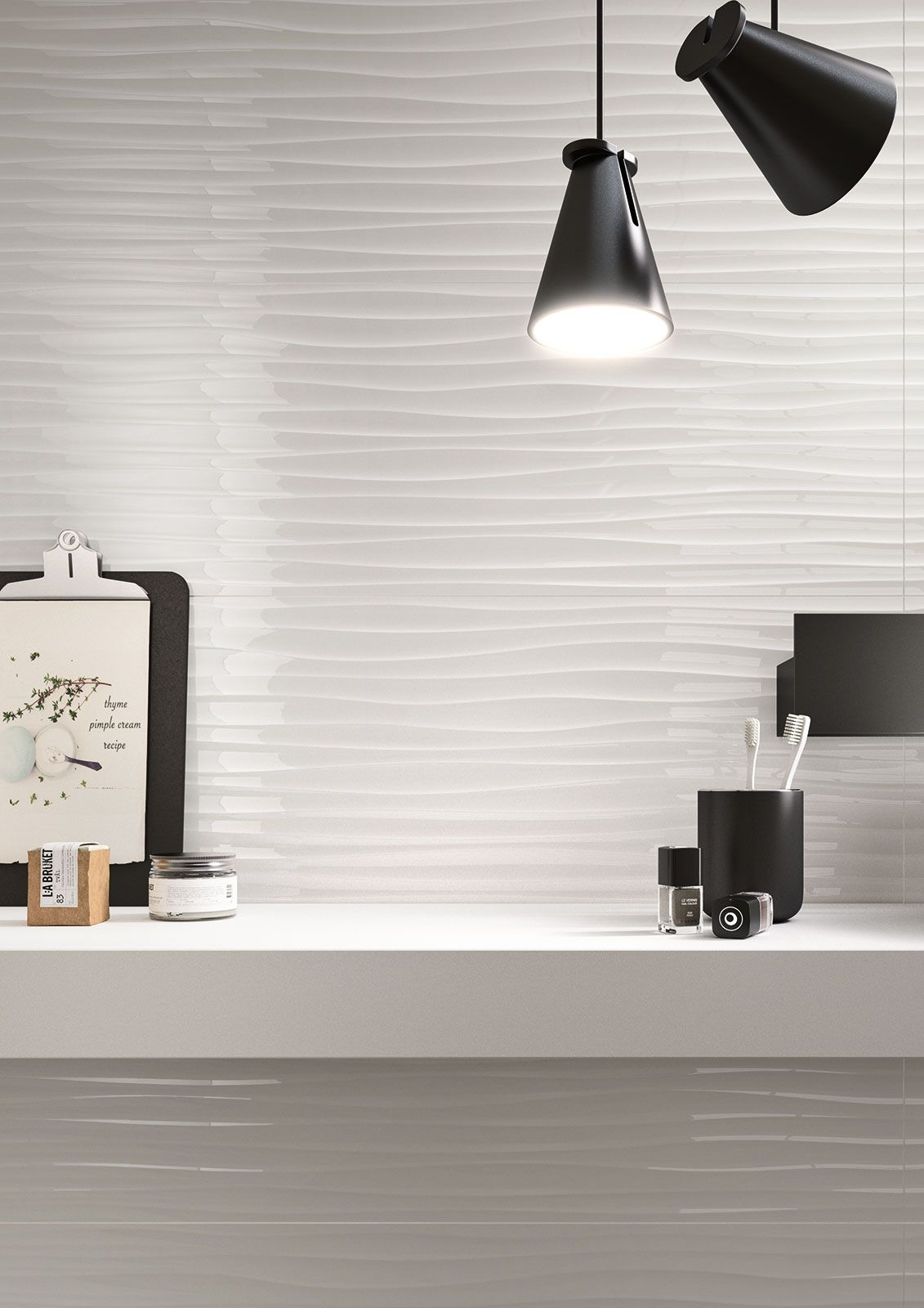 Marazzi Essenziale Wave 3d Lux 40x120 Cm Mmfm Bathroom Interior Design Bathroom Decor Wall Lights