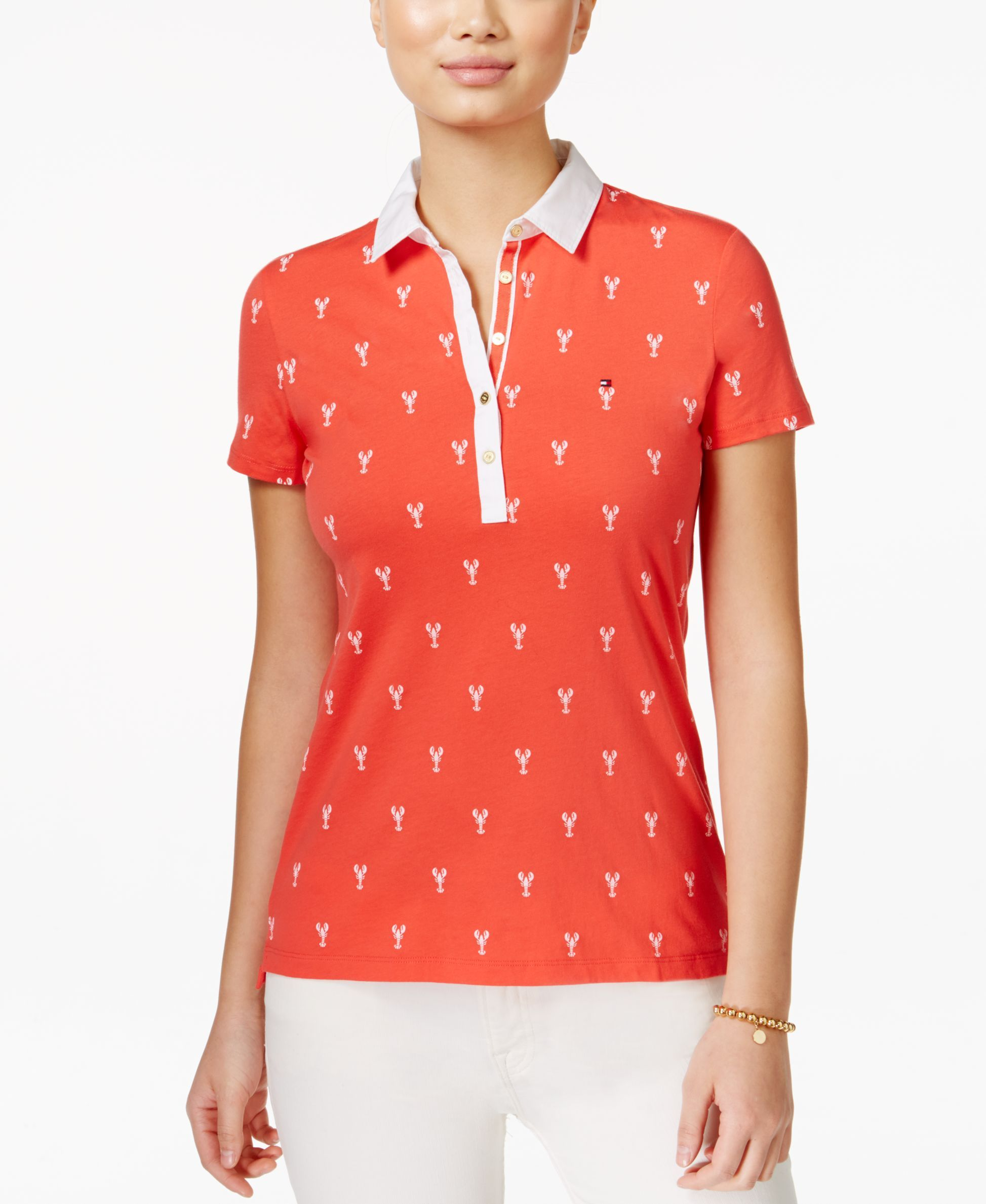 cfa2eb4e Tommy Hilfiger Lobster-Print Polo Top | Products