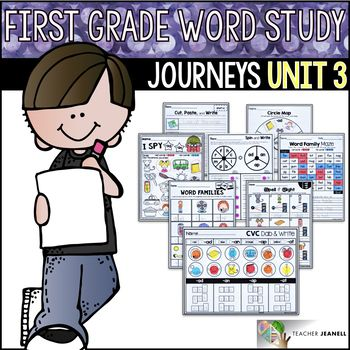 Word Study No Prep Journeys First Grade Unit 3 Phonics
