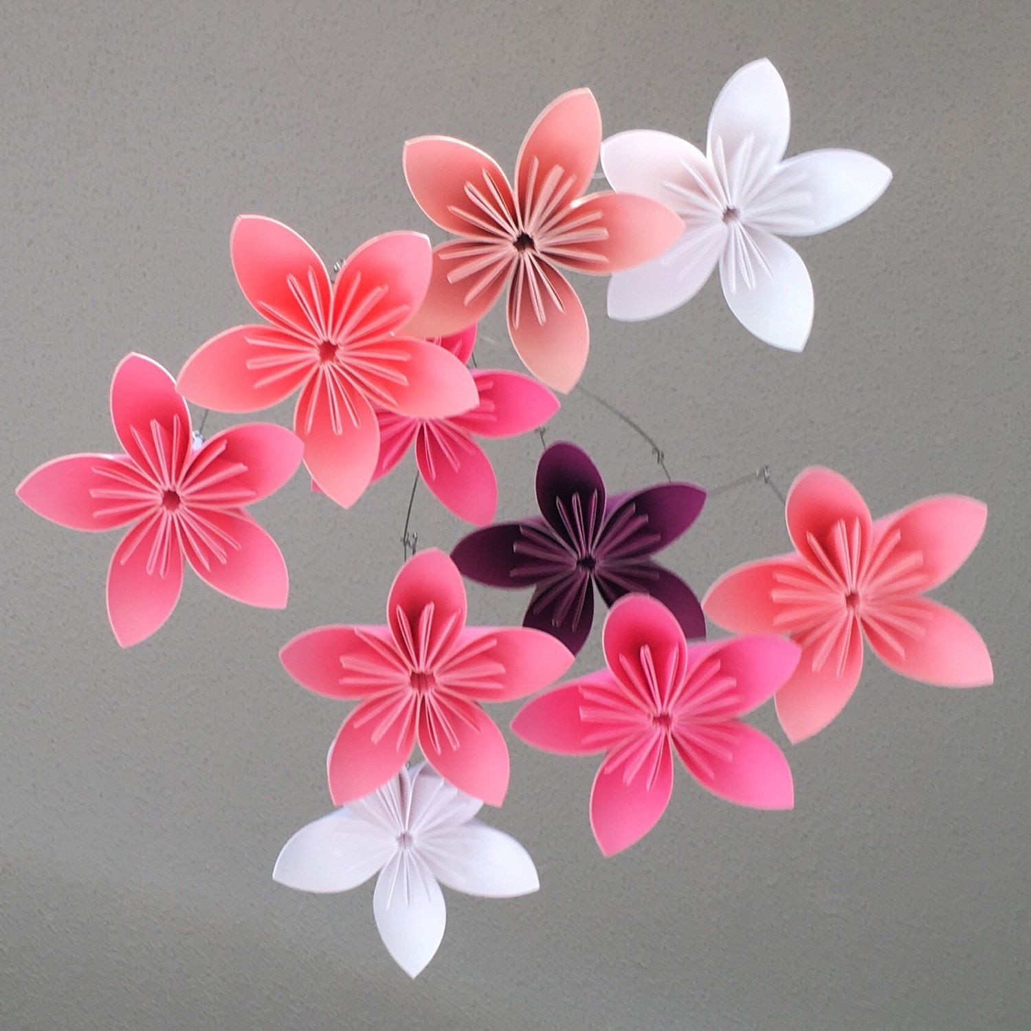 Origami flower with a4 paper ukrandiffusion flower baby mobile custom mobile paper flower mobile paper flower mightylinksfo