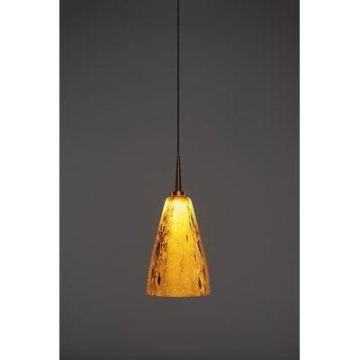 Bruck Zara 1 Light Single Cone Led Pendant Wayfair In