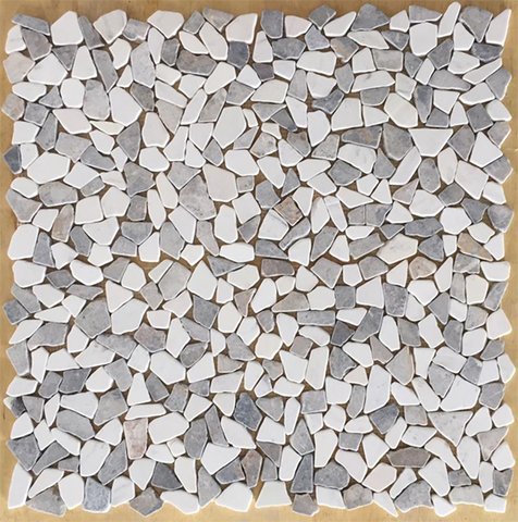 Mixed Colors Random Broken Marble Mosaic