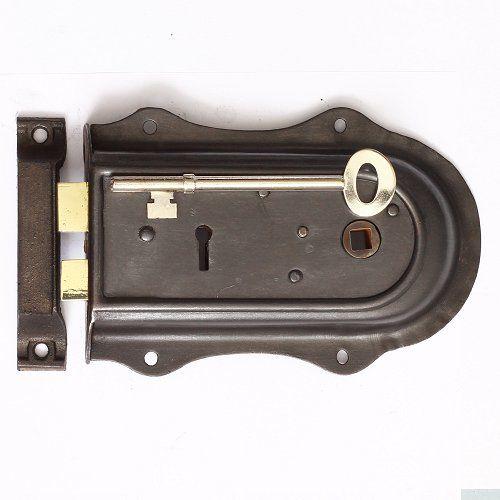 Reclaimed Steel Cased Rim Lock Steel Reclaim Door Furniture