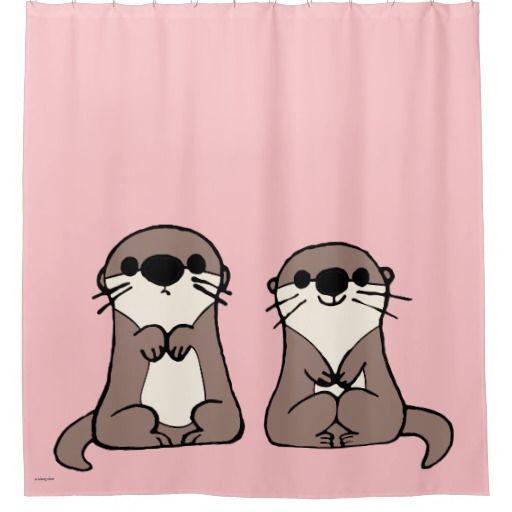 95212e8196201 Finding Dory   Otter Cartoon Shower Curtain Cartoon Drawings Of Animals, Drawing  Cartoon Characters,