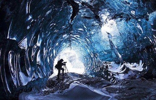 En el interior del glaciar  Vatnajokull