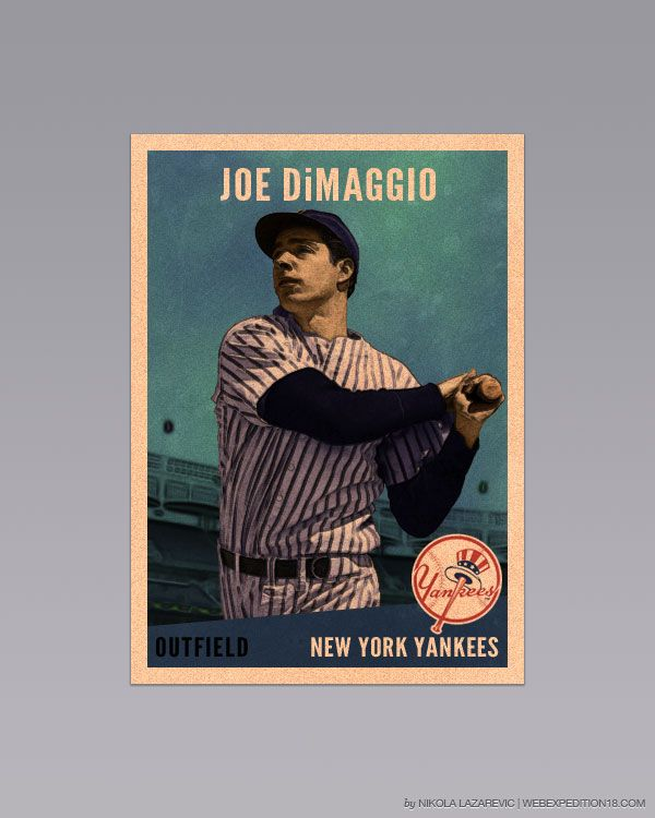 Design A Vintage Baseball Card In Photoshop Graphicology