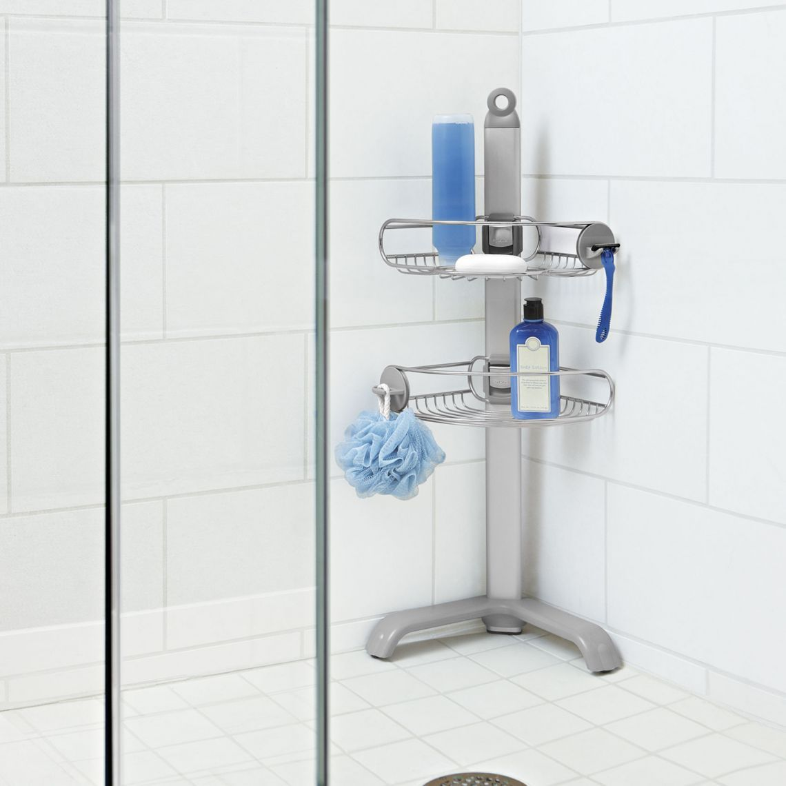 Corner Shower Caddy Stainless Steel Anodized Aluminum Corner