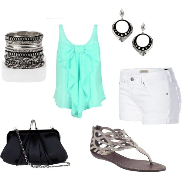 """aqua"" by cierrahope123 on Polyvore"